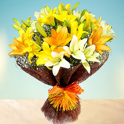Sunny Asiatic Lilies: Doctors Day Gifts