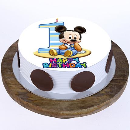 Bday Mickey Mouse Cake: Cartoon Birthday Cakes