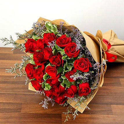 Bouquet Of 20 Red Roses: Valentine Flowers to Al Ain
