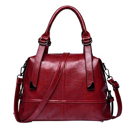 Elegant Maroon Shoulder Bag: Accessories