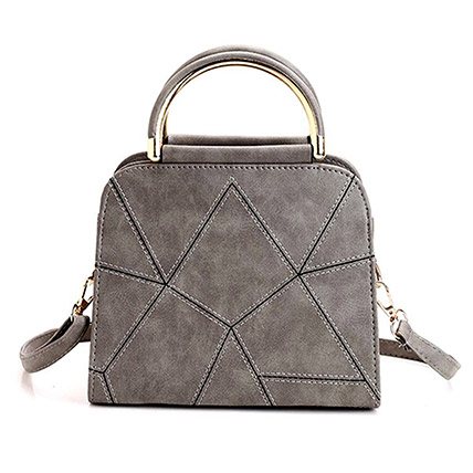 Elegant Grey Tote Bag: Leather Bags