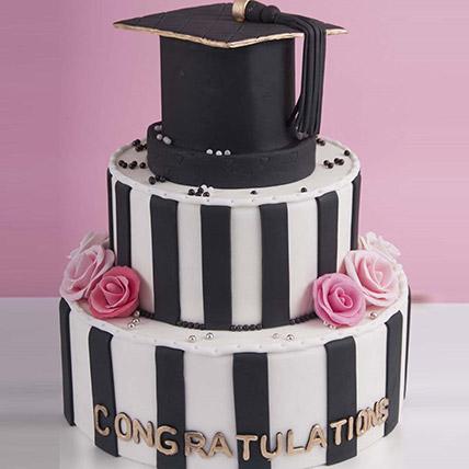 Graduation Hat Congratulations Cake 6 Kg: Graduation Cakes
