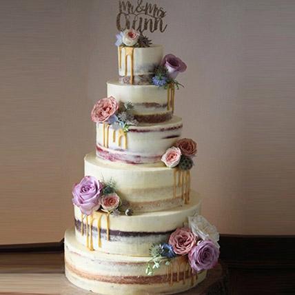 Beguiling 6 Tier Wedding Cake 14 Kg: Unique Gifts Dubai