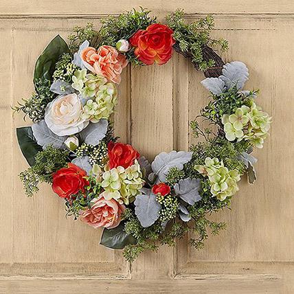 Bright Floral Wreath: Christmas Wreaths