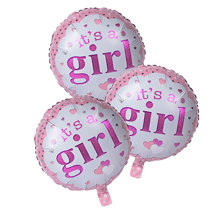 Its A Girl Foil Balloons: Baby Gifts in Dubai
