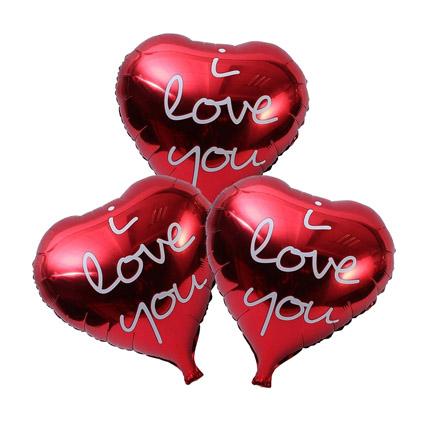 I Love You Foil Balloons: Balloons