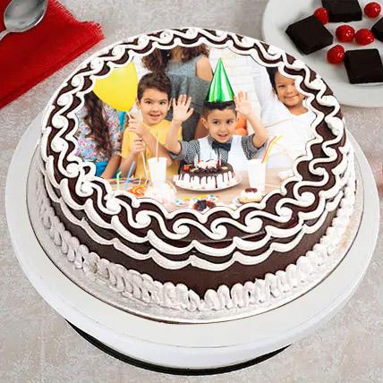 Joyful Birthday Photo Cake: Birthday Photo Cakes