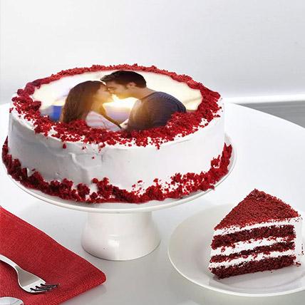 Velvety Photo Cake: Anniversary Photos Cakes
