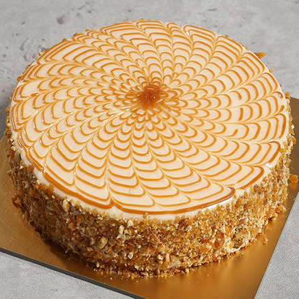 500gm Yummy Butterscotch Cake: Cakes Delivery in Ras Al Khaimah