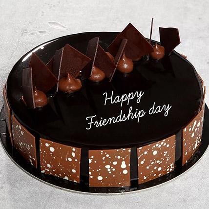Friendship Day Choco Fudge Cake: Friendship Day Gifts