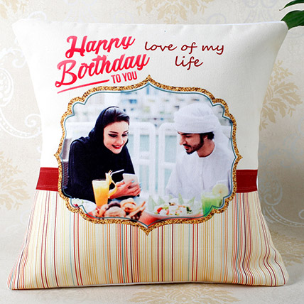Romantic Birthday Personalized Cushion: Birthday Personalised Gifts