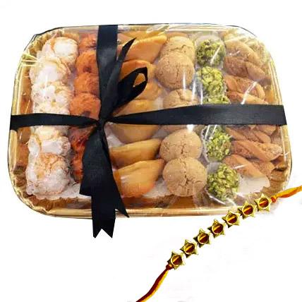 Rakhi with Sweet Platter: Rakhi With Cookies