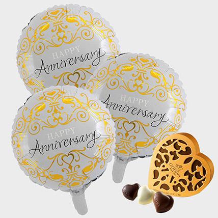 Anniversary Balloons and Godiva Chocolates: Send Chocolates in Ajman