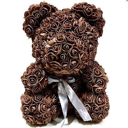 Artificial Brown Roses Teddy: Rose Teddy Bears