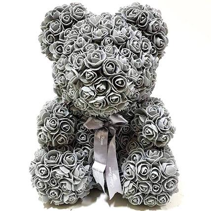 Artificial Grey Roses Teddy: Unique Gifts