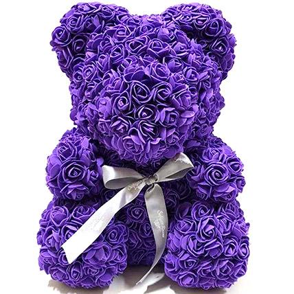 Artificial Roses Purple Teddy: Rose Teddy Bears
