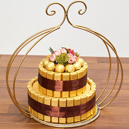 Delicious Two Tier Chocolate Tower: Premium Gifts