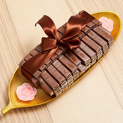 Golden Tray Of Belgian Chocolate: Diwali Gifts 2019