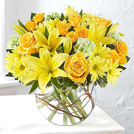 Bowl Of Happy Flowers: Chrysanthemum Flowers