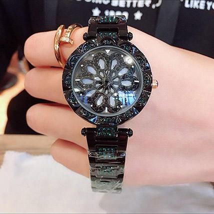Czech Crystal Black Watch: Watches