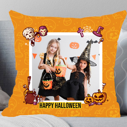 Halloween Mysterious Personalised Cushion: Halloween Gifts