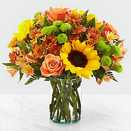 Colours Of Life Flower Vase: Thanksgiving Gifts