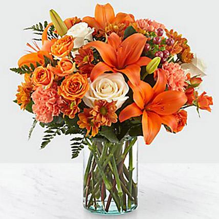 Fascinating Floral Arrangement: Halloween Gifts