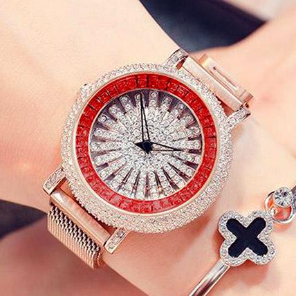 Korean Diamond Star Rose Gold Watch: Accessories