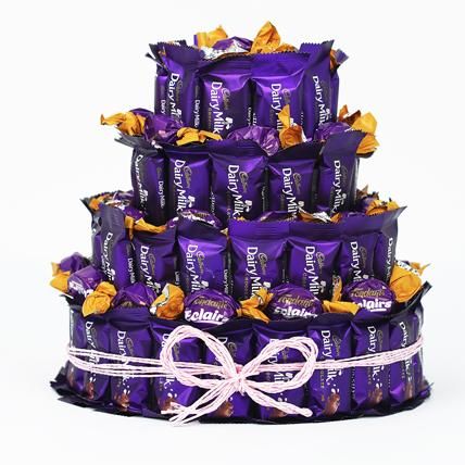 Three Layer Chocolaty Wishes:  Cadbury Chocolates