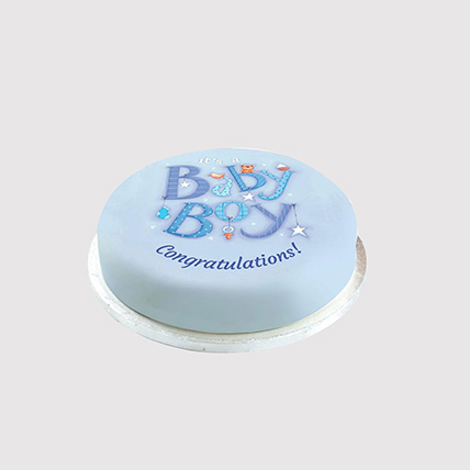 Baby Boy Sweet Surprise Combo: Newborn Baby Cake
