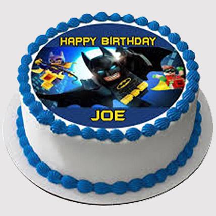 Batman Cream Photo Cake: Batman Birthday Cakes