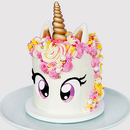 Big Eyed Unicorn Cake: Cakes Delivery for Kids