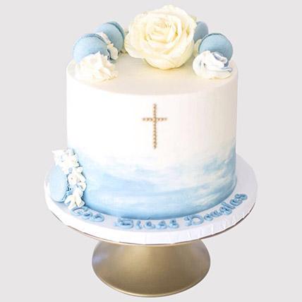 Floral Christening Cake: Christening Cake