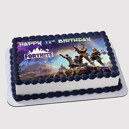 Fortnite Birthday Photo Cake: Fortnite Cakes