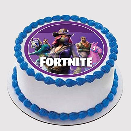 Fortnite Round Photo Cake: Fortnite Cakes