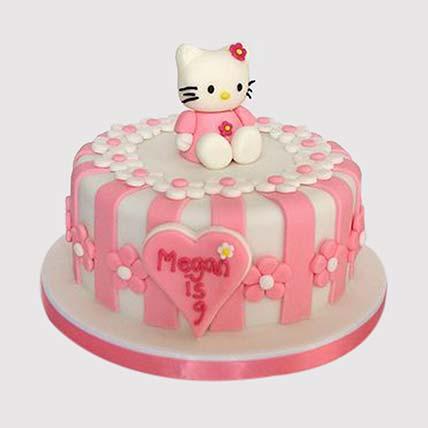 Hello Kitty Fondant Cake: