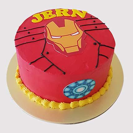 Iron Man Fondant Round Cake: Iron Man Cakes