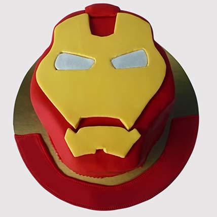 Iron Man Logo Shaped Cake: Iron Man Birthday Cake