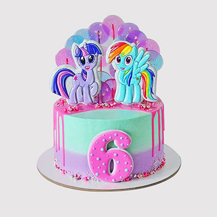 Rainbow Dash and Twilight Sparkle Cake: Little Pony Cake