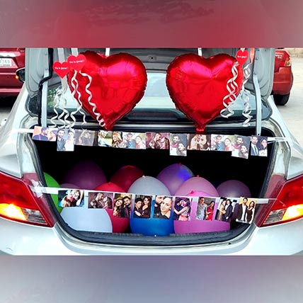 Personalised Picture Car Trunk Decor: Experiential Gifts