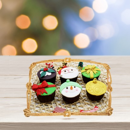 Assorted Xmas Themed Cupcakes: Christmas Cupcakes