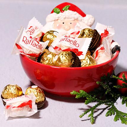 Santas Bowl Of Chocolates: Chocolates