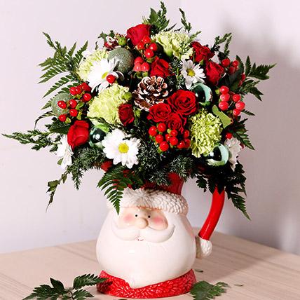 Santa Special Flower Arrangement: Christmas Flowers