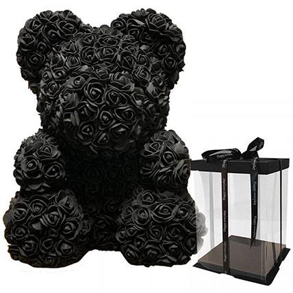Artificial Black Roses Teddy: Rose Teddy Bears