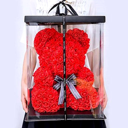 Artificial Red Roses Teddy: Rose Teddy Bears