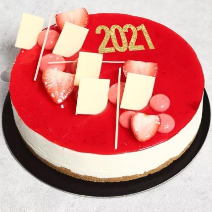 New Year Strawberry Cheesecake: New Year Cakes