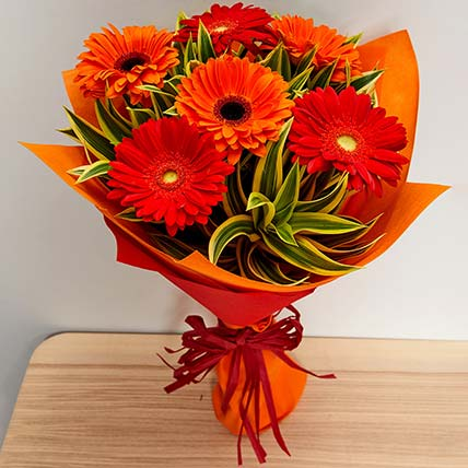 Blush Gerberas Bouquet: Chinese New-year Gifts