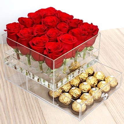 Elegant Roses and Ferrero Rocher: Valentines Day Gifts