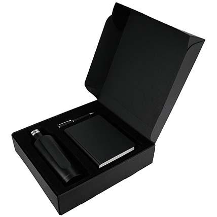 Classy Black Notebook Bottle Pen Gift Set: Accessories