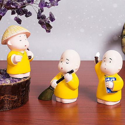 Buddha Monk Showpiece Set: Home Decor Items